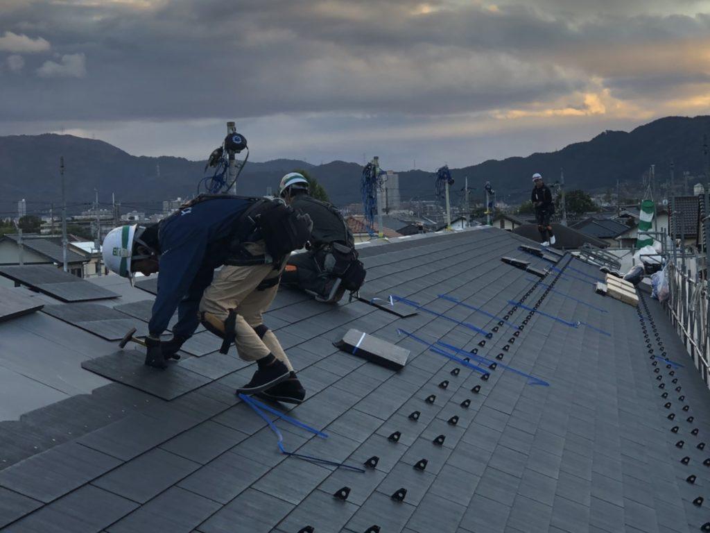 アパートの屋根工事